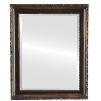 Beveled Mirror - Kensington Rectangle Frame - Rubbed Bronze