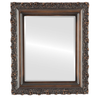 Beveled Mirror - Venice Rectangle Frame - Rubbed Bronze