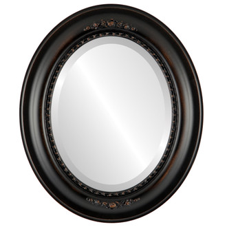 Beveled Mirror - Boston Oval Frame - Rubbed Bronze
