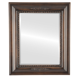 Beveled Mirror - Boston Rectangle Frame - Rubbed Bronze