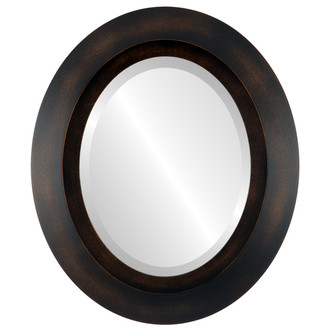 Beveled Mirror - Veneto Oval Frame - Rubbed Bronze