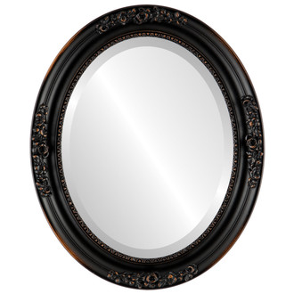 Beveled Mirror - Versailles Oval Frame - Rubbed Bronze