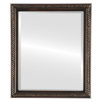 Beveled Mirror - Santa Fe Rectangle Frame - Rubbed Bronze