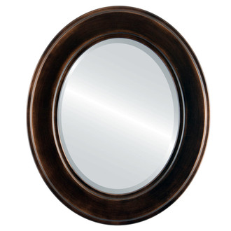 Beveled Mirror - Montreal Oval Frame - Rubbed Bronze