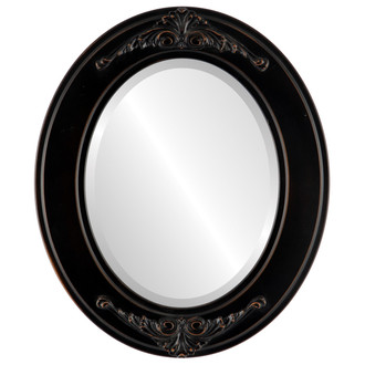 Beveled Mirror - Ramino Oval Frame - Rubbed Bronze