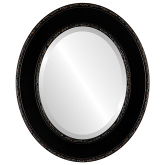 Beveled Mirror - Paris Oval Frame - Rubbed Bronze