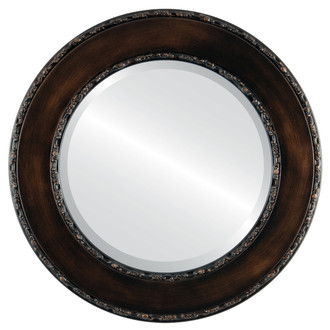 Beveled Mirror - Paris Round Frame - Rubbed Bronze