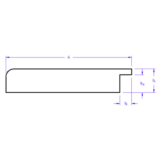 Boulevard Rectangle - Profile Drawing
