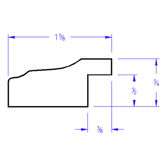 Messina Rectangle - Profile Drawing