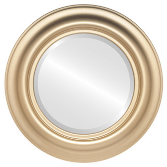 Beveled Mirror - Lancaster Round Frame - Gold Spray