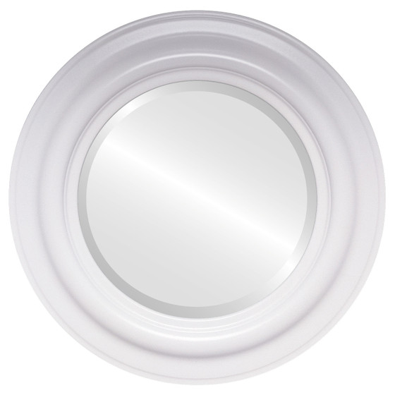 Contemporary white round mirrors from 119 free shipping for Large white round mirror
