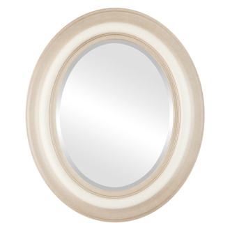 Beveled Mirror - Lancaster Oval Frame - Taupe