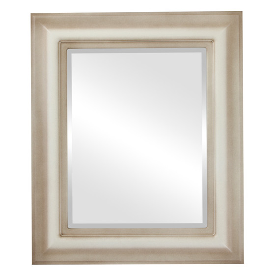 Beveled Mirror - Lancaster Rectangle Frame - Taupe
