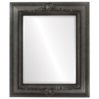 Beveled Mirror - Winchester Rectangle Frame - Black Silver