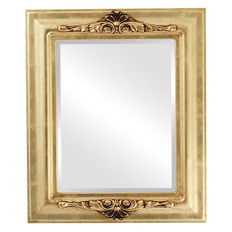 Beveled Mirror - Winchester Rectangle Frame - Gold Leaf