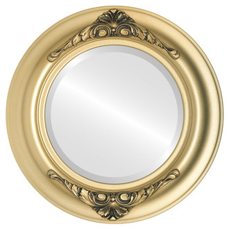 Beveled Mirror - Winchester Round Frame - Gold Spray