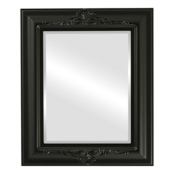 Beveled Mirror - Winchester Rectangle Frame - Matte Black