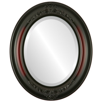 Beveled Mirror - Winchester Oval Frame - Rosewood
