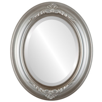 Beveled Mirror - Winchester Oval Frame - Silver Shade
