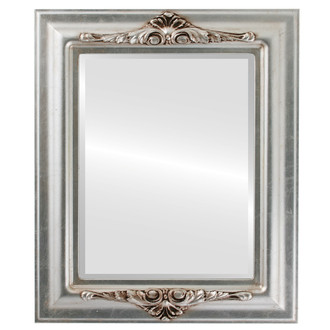 Beveled Mirror - Winchester Rectangle Frame - Silver Leaf with Brown Antique