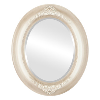 Beveled Mirror - Winchester Oval Frame - Taupe
