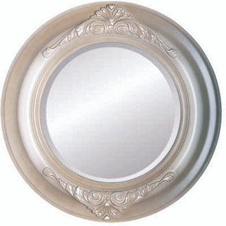 Beveled Mirror - Winchester Round Frame - Taupe