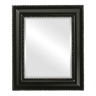 Beveled Mirror - Somerset Rectangle Frame - Gloss Black