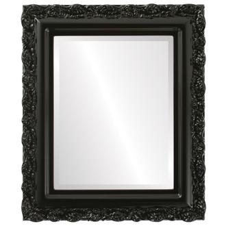 Beveled Mirror - Venice Rectangle Frame - Gloss Black