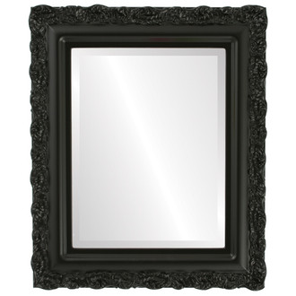 Beveled Mirror - Venice Rectangle Frame - Matte Black