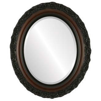 Beveled Mirror - Venice Oval Frame - Rosewood