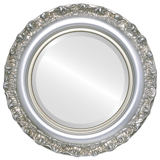 decorative silver round mirrors from 146 free shipping. Black Bedroom Furniture Sets. Home Design Ideas