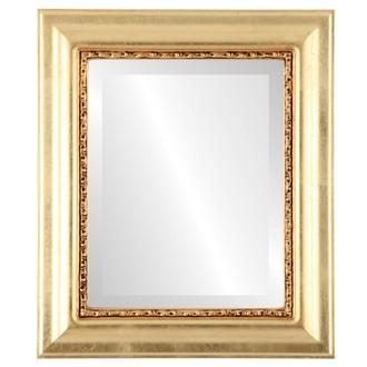 Beveled Mirror - Chicago Rectangle Frame - Gold Leaf