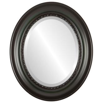 Beveled Mirror - Chicago Oval Frame - Hunter Green