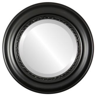 Beveled Mirror - Chicago Round Frame - Matte Black