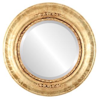 Beveled Mirror - Boston Round Frame - Champagne Gold