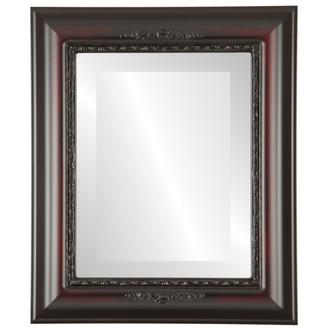 Beveled Mirror - Boston Rectangle Frame - Rosewood