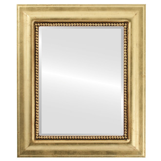 Beveled Mirror - Heritage Rectangle Frame - Gold Leaf