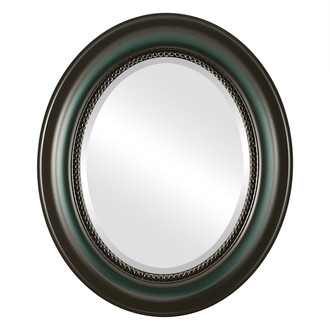 Beveled Mirror - Heritage Oval Frame - Hunter Green