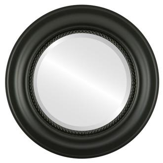 Beveled Mirror - Heritage Round Frame - Matte Black