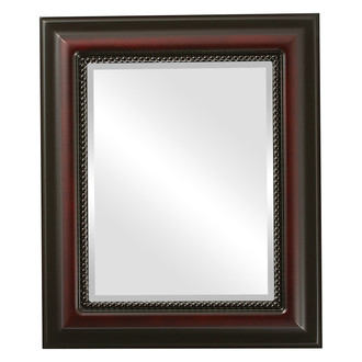 Beveled Mirror - Heritage Rectangle Frame - Rosewood