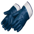 Blue Nitrile Gloves Palm-Coated