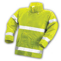 Comfort-Brite® Jacket - Fluorescent Yellow-Green - Attached Hood - Silver Reflective Tape