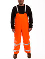 Comfort-Brite® Overall - Fluorescent Orange-Red - Snap Fly Front - Silver Reflective Tape