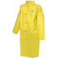 """DuraScrim™ Coat - Yellow - 48"""" - 2 Patch Pockets - Vented Cape Back - Hood Snaps"""