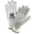 Barracude white HPPE Shell w/ Gray PU Dip Cut Protection Gloves