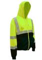 Cor-Brite Hoodie Sweatshirt - Lime Green