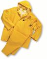 35ml PVC over Polyester 3pcs Rainsuit