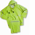 35ml 3pc PVC Rainsuit - Lime - Class 1