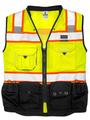 Premium Black Series Surveyors Vest, Lime