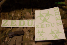 ZEDU Sticker Set, Toxic Green
